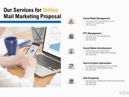 Our Services For Online Mail Marketing Proposal Management Presentation Slides