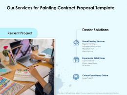 Our Services For Painting Contract Proposal Template Ppt Powerpoint Background