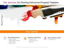 Our Services For Painting Contractors Proposal Template Ppt Powerpoint Presentation Slides