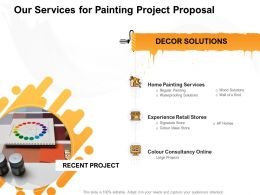 Our Services For Painting Project Proposal Ppt Powerpoint Presentation Inspiration Outline