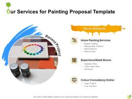 Our Services For Painting Proposal Template Ppt Powerpoint Presentation Inspiration