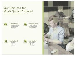Our Services For Work Quote Proposal Ppt Powerpoint Presentation Infographic Template Slide Portrait