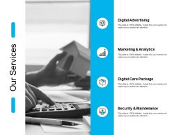 Our Services Marketing Analytics Ppt Powerpoint Presentation File Slides
