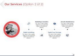 Our Services Option Planning Ppt Pictures Background Designs