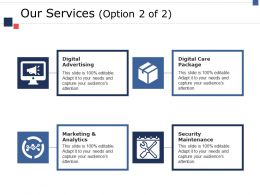 Our Services Ppt Gallery Guide
