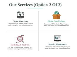 Our Services Ppt Professional Skills