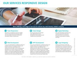 Our Services Responsive Design Ppt Powerpoint Presentation Summary Outfit