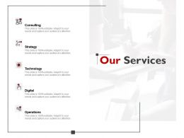 Our Services Strategy J167 Ppt Powerpoint Presentation File Portfolio