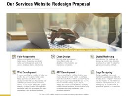 Our Services Website Redesign Proposal Ppt Powerpoint Presentation Icon Designs