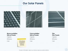 Our Solar Panels Ppt Powerpoint Presentation File Designs Download