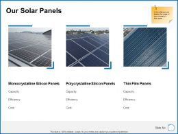 Our Solar Panels Ppt Powerpoint Presentation Icon Demonstration