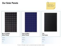 Our Solar Panels Ppt Powerpoint Presentation Infographic Template Graphic Tips
