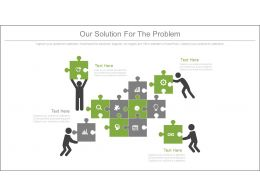 Powerpoint puzzle templates puzzle presentation slides ppt our solution for the our solution for the problem ppt slide template toneelgroepblik Image collections
