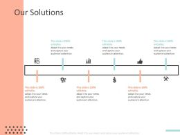 Our Solutions Ppt Powerpoint Presentation Pictures Ideas
