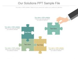 Our Solutions Ppt Sample File