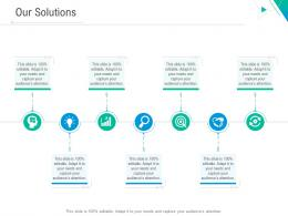 Our Solutions Slide Business Outline Ppt Template