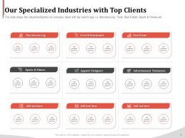 Our Specialized Industries With Top Clients Ppt Inspiration