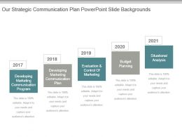 Our Strategic Communication Plan Powerpoint Slide Backgrounds