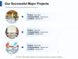 Our Successful Major Projects Company Powerpoint Presentation Slide