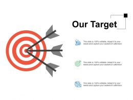 Our Target Acheivement F241 Ppt Powerpoint Presentation Professional Influencers