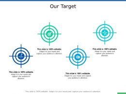 Our Target And Arrows F764 Ppt Powerpoint Presentation Show Master Slide