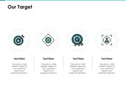 Our Target Arrow A60 Ppt Powerpoint Presentation Show File Formats