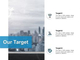 Our Target Arrow A67 Ppt Powerpoint Presentation Model Pictures