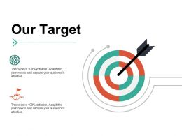 Our Target Arrow I102 Ppt Powerpoint Presentation Show Format