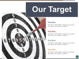Our Target Arrow Ppt Powerpoint Presentation File Diagrams