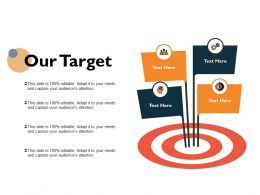 Our Target Arrow Ppt Powerpoint Presentation Icon Slide Download