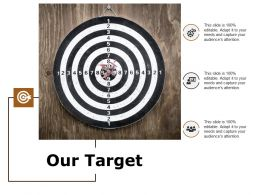 our_target_arrow_ppt_powerpoint_presentation_infographics_guide_Slide01