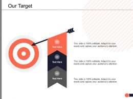 Our Target Arrow Ppt Powerpoint Presentation Summary Slide Portrait