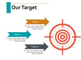 our_target_arrow_ppt_powerpoint_presentation_visual_aids_diagrams_Slide01