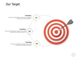 Our Target Arrow Success A688 Ppt Powerpoint Presentation Pictures Slideshow