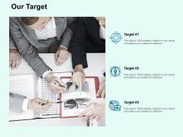 Our Target Arrows F724 Ppt Powerpoint Presentation Portfolio Microsoft