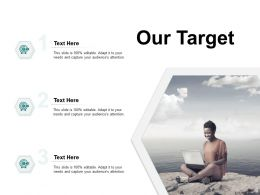 Our Target Arrows Goal E314 Ppt Powerpoint Presentation File Example