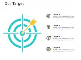 Our Target Arrows Management C758 Ppt Powerpoint Presentation Summary Clipart Images