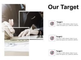 Our Target Arrows Success D84 Ppt Powerpoint Presentation Gallery Styles