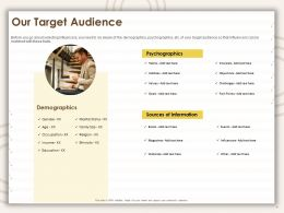 Our Target Audience Information Ppt Powerpoint Presentation Summary Slideshow