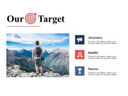 Our Target Awareness I3 Ppt Powerpoint Presentation File Infographic Template