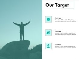 Our Target Goal I273 Ppt Powerpoint Presentation Show Objects