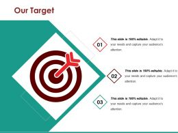 Our Target Ppt Diagrams