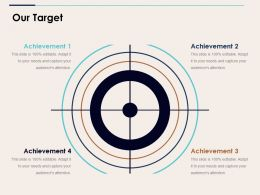 Our Target Ppt Example 2015