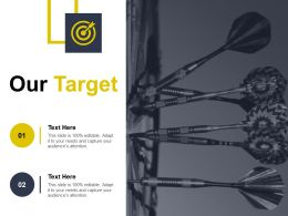 Our Target Ppt Icon Example Introduction