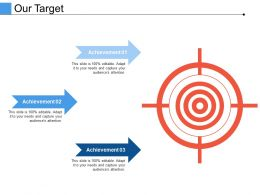Our Target Ppt Infographic Template Images