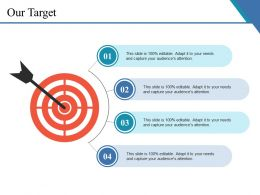 Our Target Ppt Slide Examples