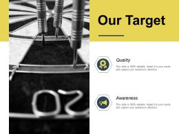 Our Target Quality Awareness K185 Ppt Powerpoint Presentation Icon Elements