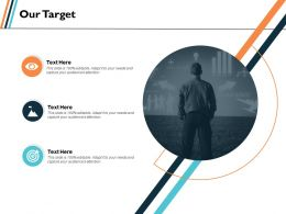 Our Target Strategy Ppt Slides Graphics Template
