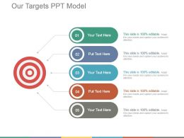 Our Targets Ppt Model