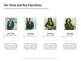 Our Team And Key Executives M3362 Ppt Powerpoint Presentation Infographic Template Show